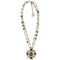 CHANEL Byzantine Cross Long Necklace