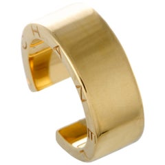 Chanel C-Signature 18 Karat Yellow Gold Open Band Ring