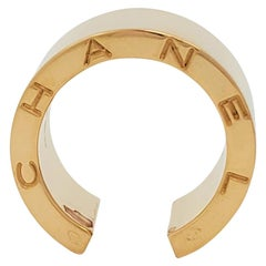 Chanel 'C Signature' Yellow Gold Open Band Ring