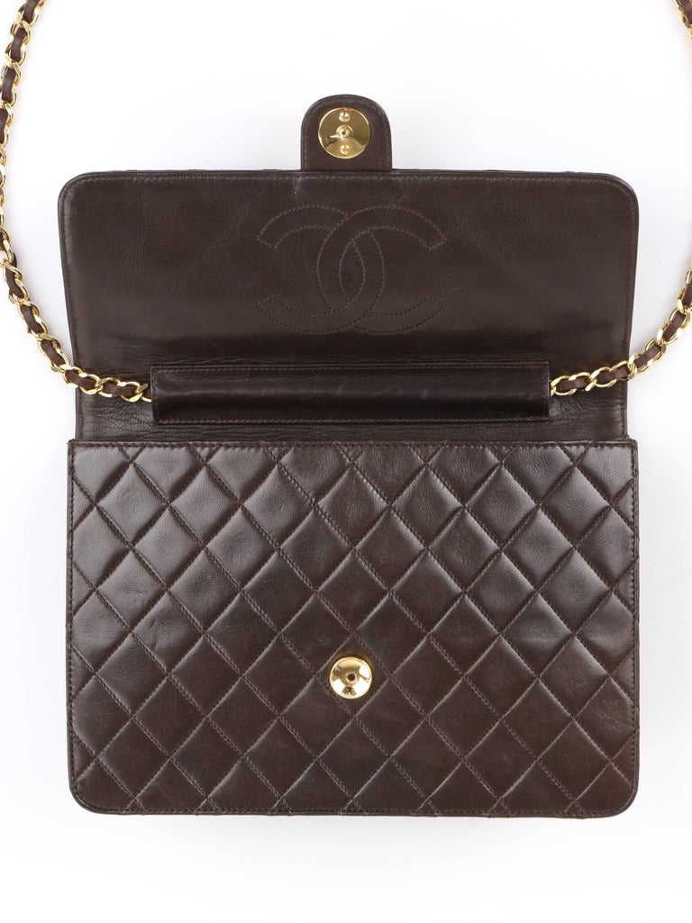 54714daec314 Chanel Jumbo Quilted Flap Bag For Sale at 1stdibs. CHANEL c.1990's  Brown Diamond Quilted Lambskin Leather Classic Flap Bag
