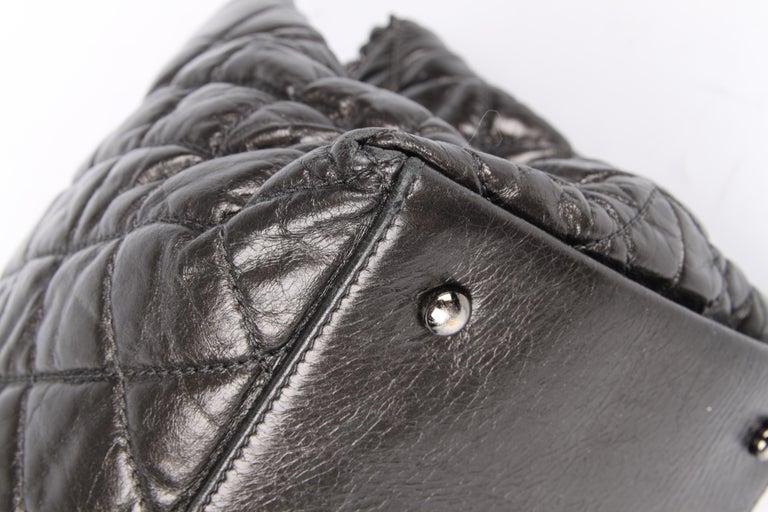 Women's Chanel Calfskin Chain Me Tote Bag - grey metallic For Sale