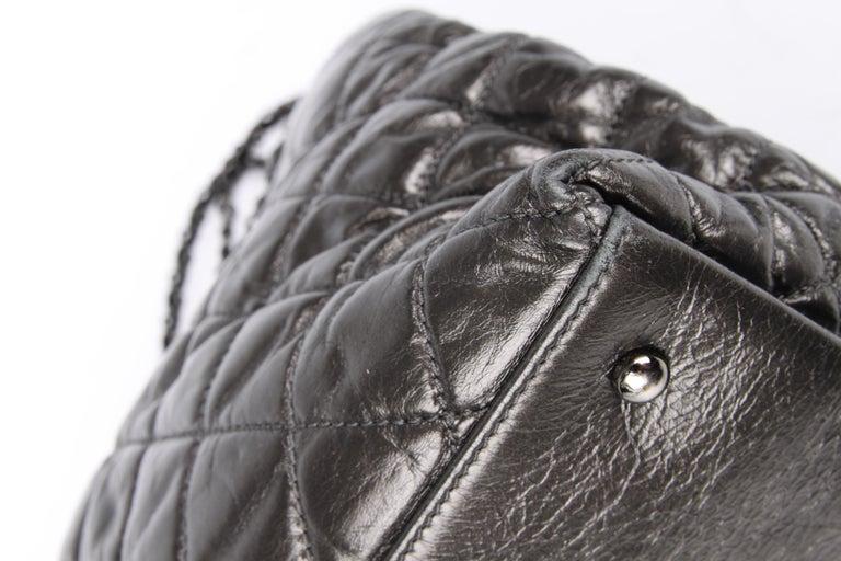 Chanel Calfskin Chain Me Tote Bag - grey metallic For Sale 1