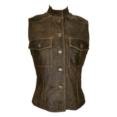 Chanel Calfskin Leather Vest Fully Lined