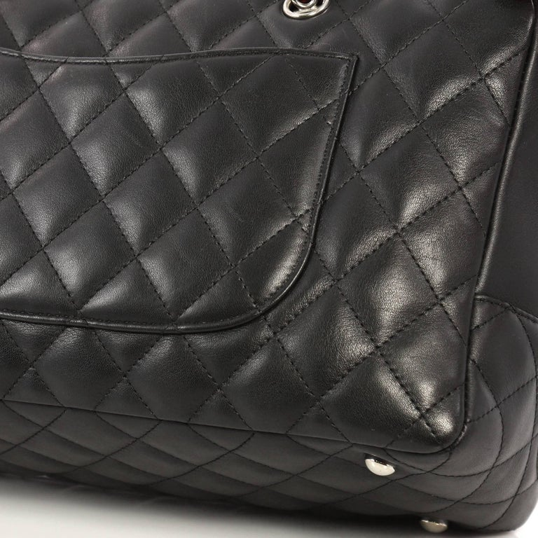 6dc2debc23 Chanel Cambon Bowler Bag Quilted Leather Medium For Sale 3