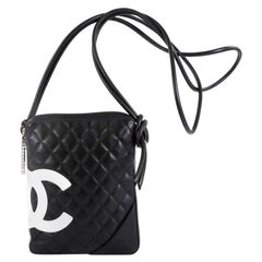 Chanel Cambon Crossbody Bag Quilted Leather Medium
