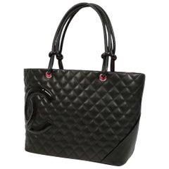 CHANEL Cambon large tote Womens tote bag A25169 black x black