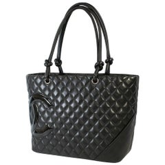 CHANEL Cambon large tote Womens tote bag A25169 black x black