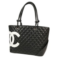 CHANEL Cambon large tote Womens tote bag A25169 black x white