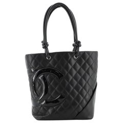 Chanel Cambon Tote Quilted Leather Medium