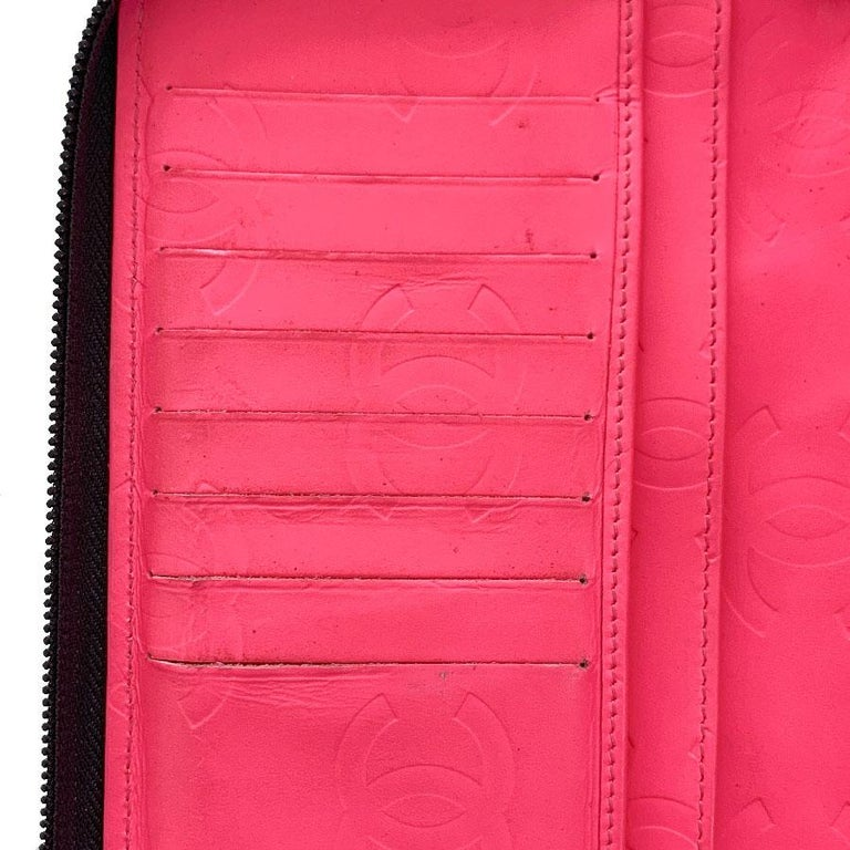 CHANEL Cambon Wallet In Black Quilted Mate Leather For Sale 6