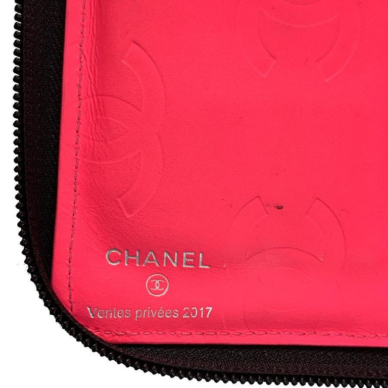 CHANEL Cambon Wallet In Black Quilted Mate Leather For Sale 7