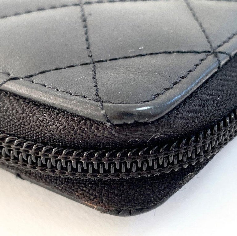 CHANEL Cambon Wallet In Black Quilted Mate Leather For Sale 1