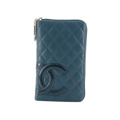 Chanel Cambon Zip Around Organizer Quilted Lambskin