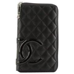 Chanel Cambon Zip Around Organizer Quilted Lambskin