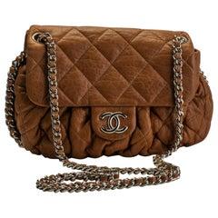 Chanel Camel Chain-Around Cross-Body Bag