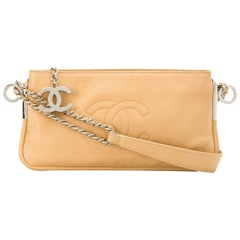 Chanel Camel Charms Baguette Leather Hand Bag