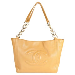 Chanel Camel Leather Timeless Shopping Bag