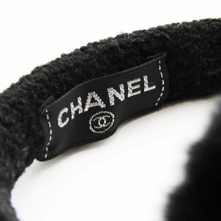 Chanel Camelia Earmuffs  In Good Condition For Sale In Los Angeles, CA