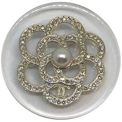Chanel Camelia on Lucite Pin, Spring 2018