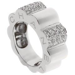 Chanel Camelia White Gold Diamond Cocktail Ring