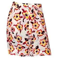 Chanel Camellia CC Logo Print Shorts Pants