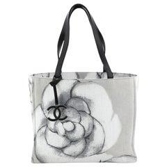 Chanel Camellia CC Tote Printed Canvas Medium