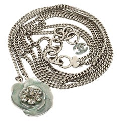 CHANEL Camellia Chain Belt And Necklace