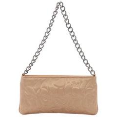 Chanel Camellia Chain Pochette Satin Small