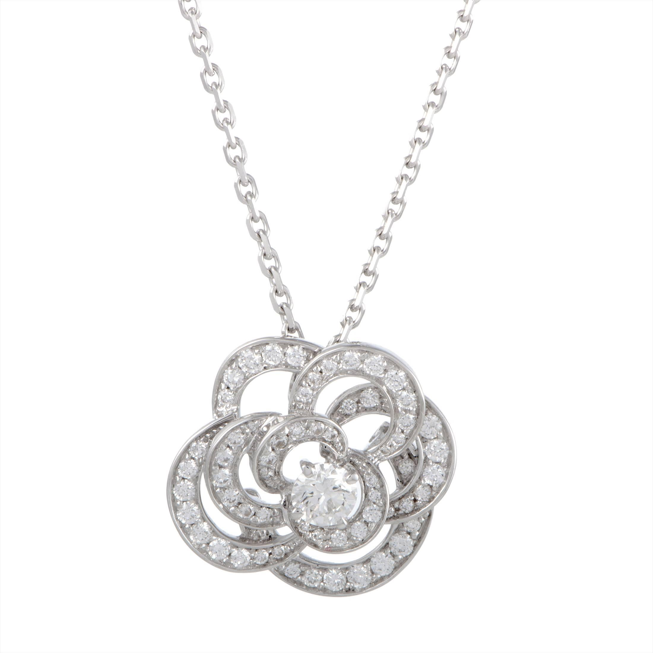 the life products rose gold sohavi flower of pendant