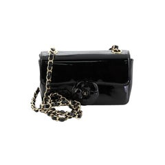 Chanel Camellia Flap Bag Patent Small