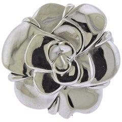 Chanel Camellia Gold Flower Ring