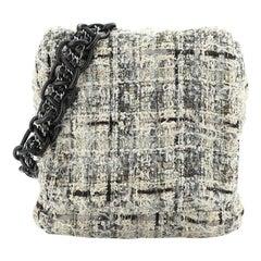 Chanel Camellia Messenger Bag Tweed Large