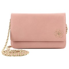 Chanel Camellia Wallet on Chain Leather