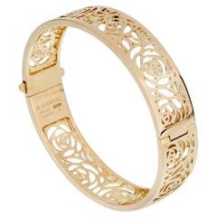 Chanel Camellia Yellow Gold Ajoure Bracelet