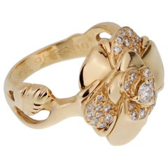 Chanel Camellia Yellow Gold Diamond Ring