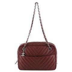 Chanel Camera Bag Chevron Lambskin Medium