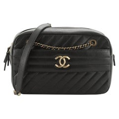Chanel Camera Bag Diagonal Quilted Goatskin Small