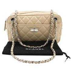 CHANEL Camera Bag in Beige Leather