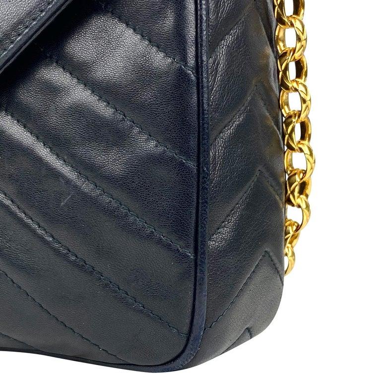Chanel Camera Black Leather Crossbody Bag 6