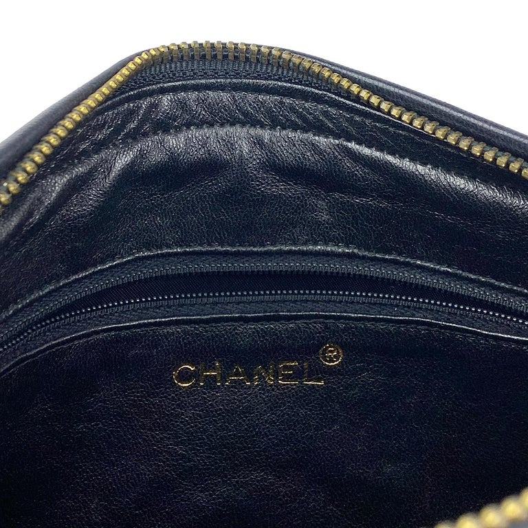 Chanel Camera Black Leather Crossbody Bag 7