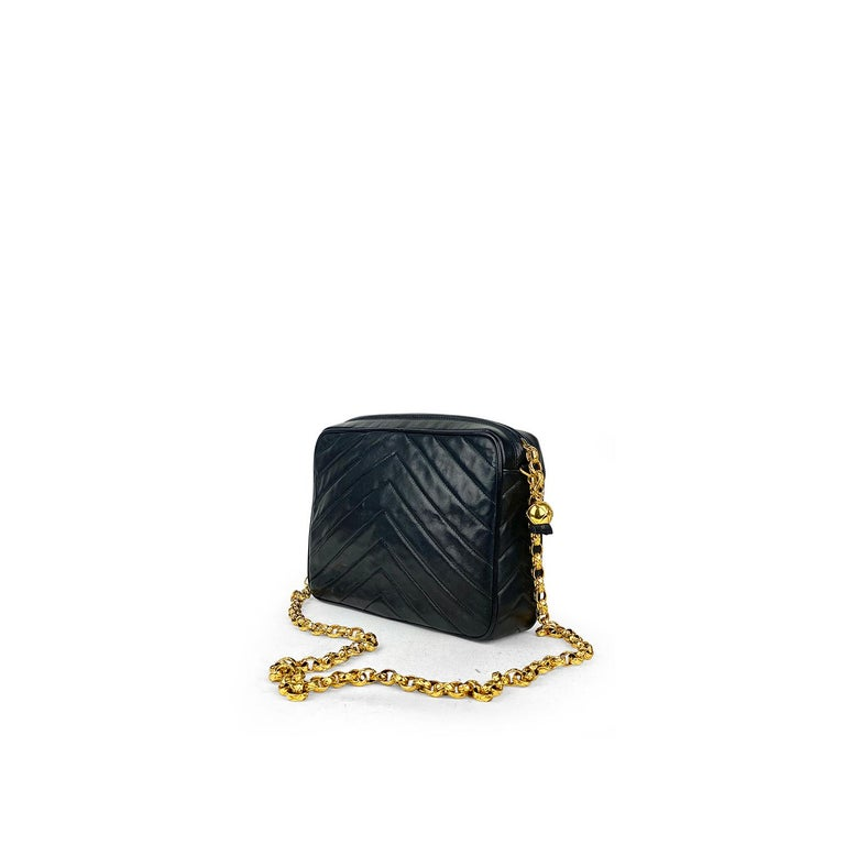 Women's Chanel Camera Black Leather Crossbody Bag