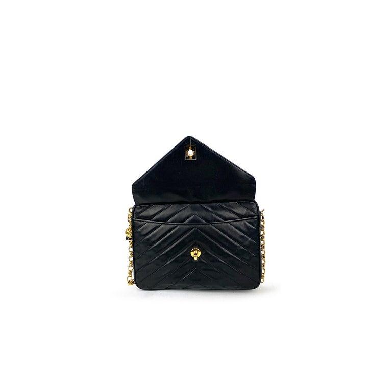 Chanel Camera Black Leather Crossbody Bag 2