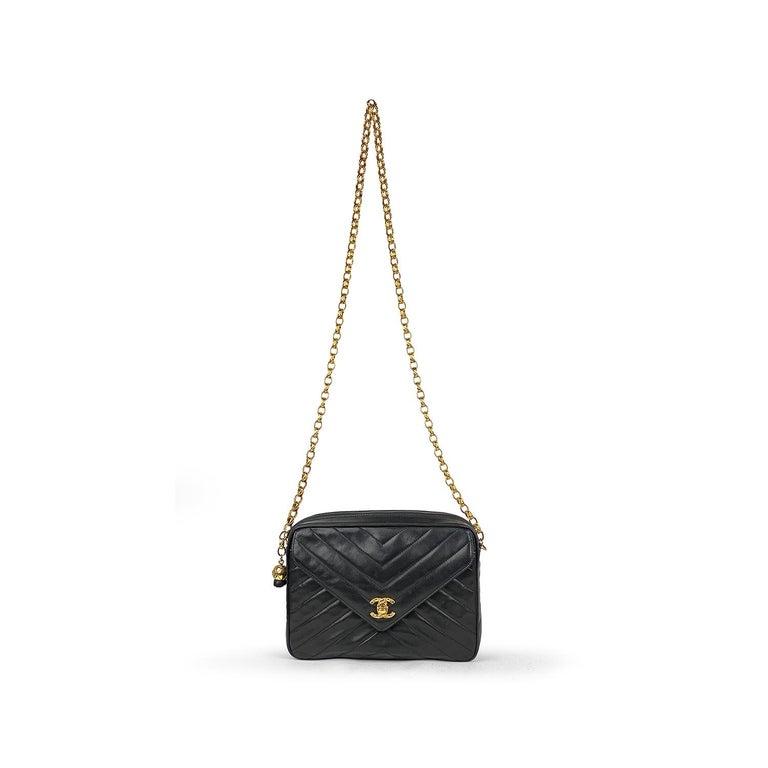 Chanel Camera Black Leather Crossbody Bag 3