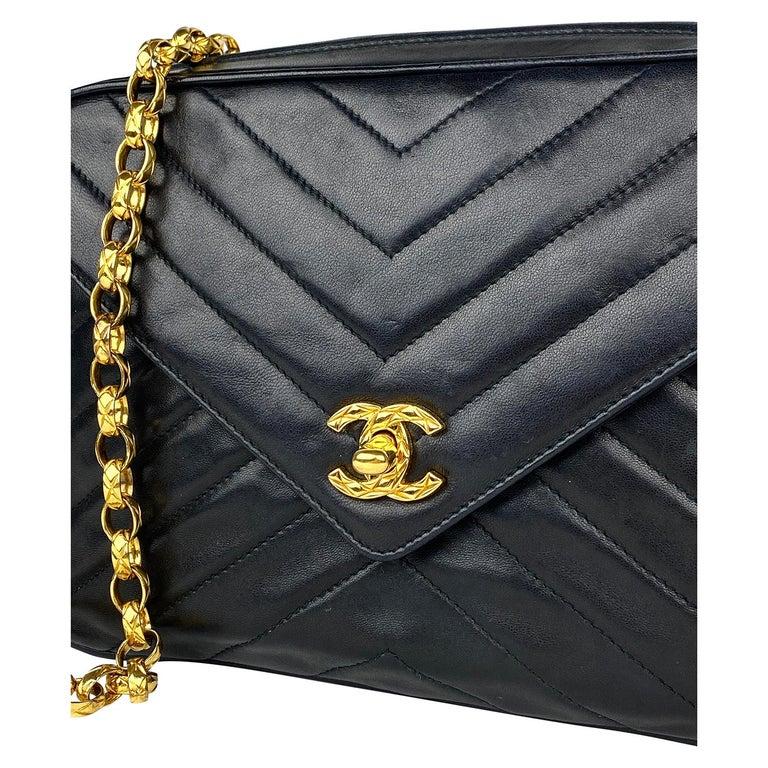 Chanel Camera Black Leather Crossbody Bag 4