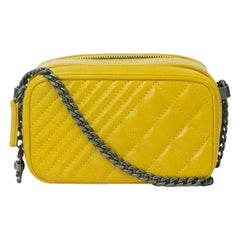 CHANEL Camera Shoulder bag in Yellow Leather