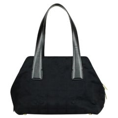 Chanel Canvas CC Tote Bag w/ Leather Handles