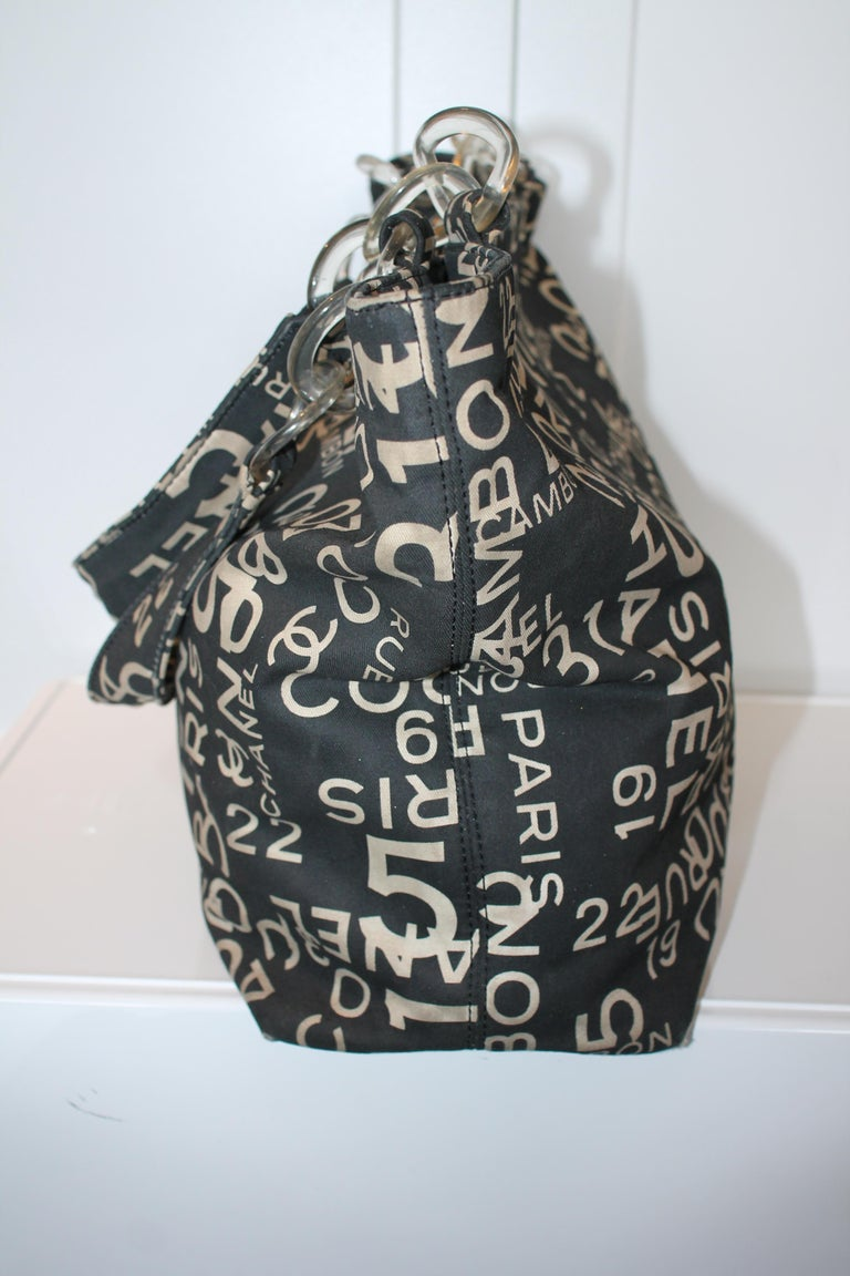 Chanel Canvas Coco Cambon Tote In Fair Condition For Sale In Roslyn, NY