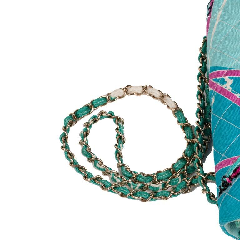 Chanel Canvas Shoulder Bag For Sale 5