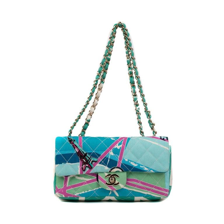 Chanel Canvas Shoulder Bag For Sale 6