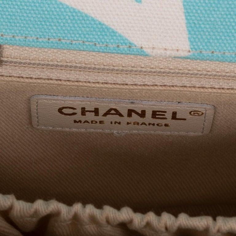Chanel Canvas Shoulder Bag For Sale 7